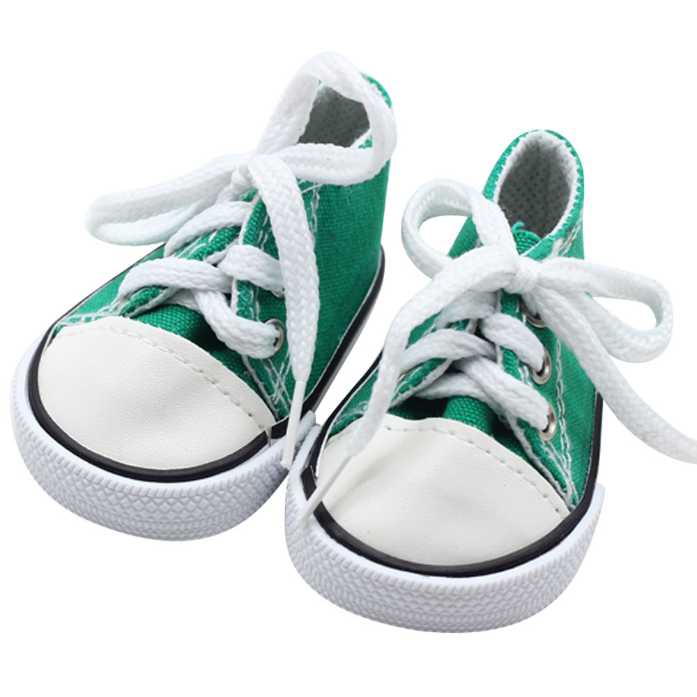 New Fashion Canvas Lace Up Sneakers Shoes For 18 inch American Girl & Boy Dolls AG