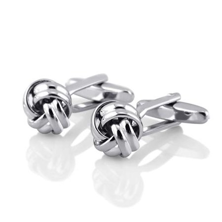 Silver/Twist Men Cufflinks Business Shirt Cuff Link Links Stainless Steel Gift