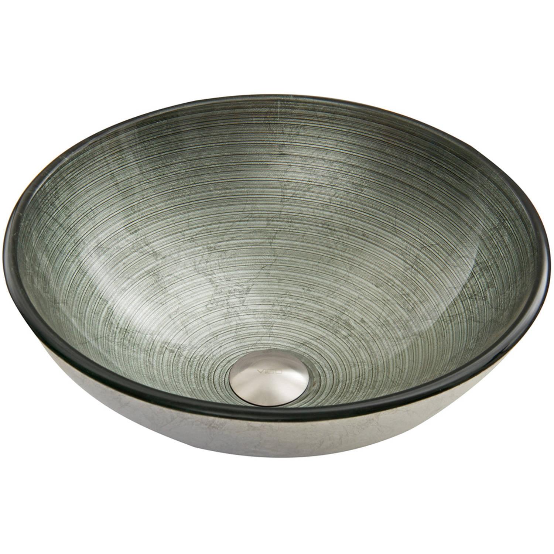 VIGO Simply Silver Glass Vessel Sink