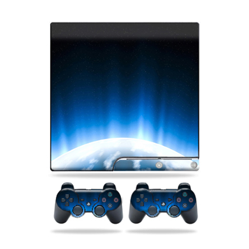 Skin Decal for Sony Playstation 3 PS3 Slim + 2 controllers sticker Space Flight