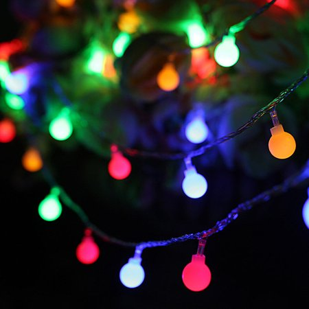 NK HOME String Lights 100LEDs 16ft/33ft Patio Lights Waterproof Christmas Decorative Starry Fairy Lights, for Indoor Outdoor Patio Wedding Party Home Garden Bedroom, Multi Color ()