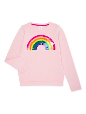 Wonder Nation Girls 4-18 & Plus Embellished Pullover Sweater