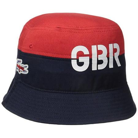 e55a3baabab Lacoste - Lacoste Men s Sport Supporter Great Britain Flag Crocodile Bucket  Hat One Size - Walmart.com