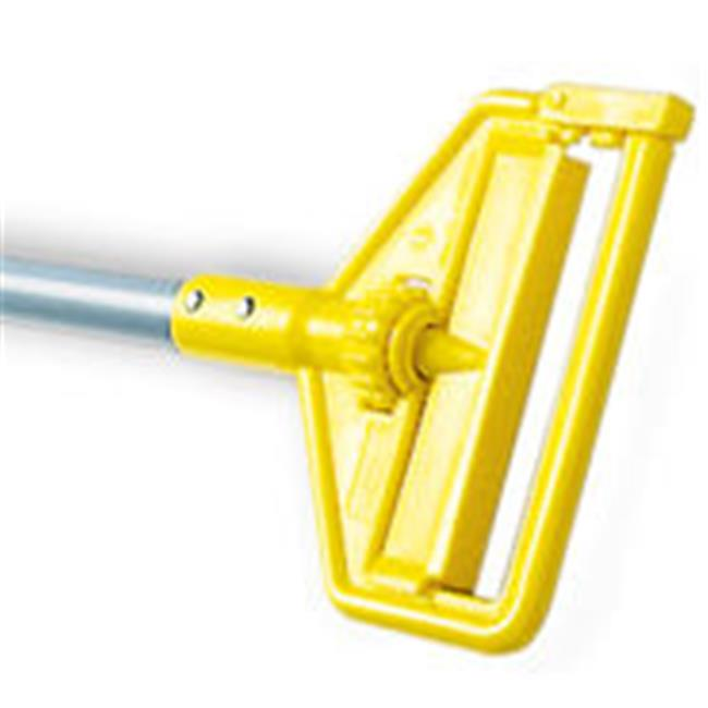 Rubbermaid Commercial Products H145 54 in. Invader Fiberglass Side-Gate Wet-Mop Handle - Gray & Yellow