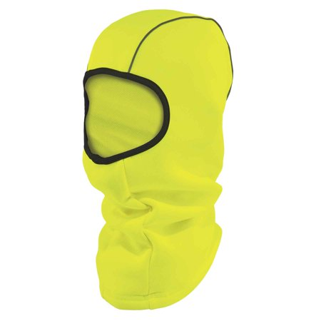 Ergodyne N-Ferno 6821 Winter Ski Mask Balaclava, Thermal Fleece, High Visibility, Lime