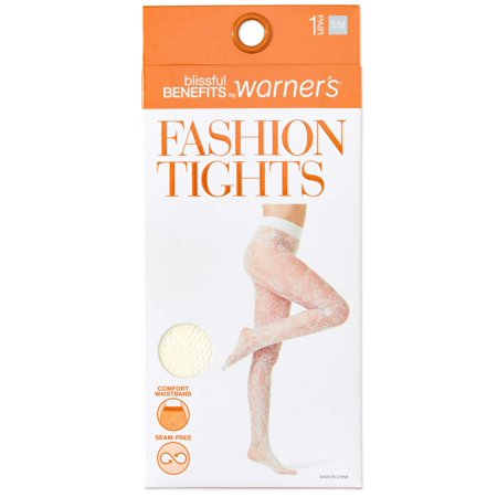 cf88e6ebf215e Blissful Benefits by Warner's - Seamless Sheer Patterned Fashion Tights, 1  Pair - Walmart.com