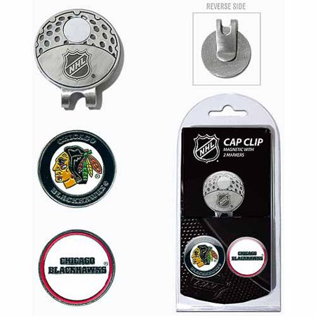 Team Golf NHL Chicago Blackhawks Cap Clip With 2 Golf Ball Markers