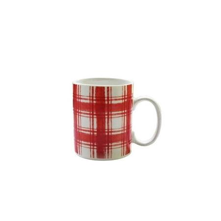 Mistletoe Memories Porcelain Plaid Cup