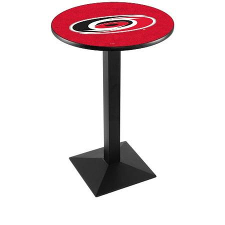 NHL Pub Table by Holland Bar Stool, Black Carolina Hurricanes, 42'' L217 by