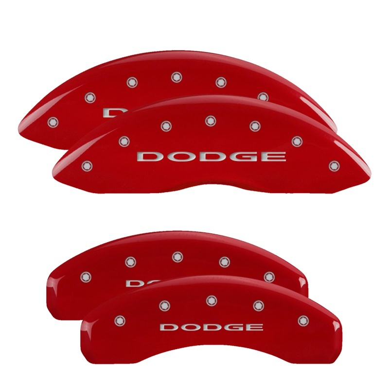 MGP 4 Caliper Covers Engraved Front & Rear C6/Corvette Red finish silver ch