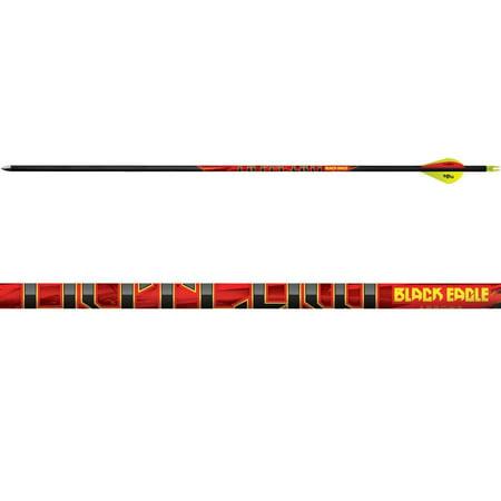 Feather Fletched Arrows (BLACK EAGLE Outlaw Fletched Arrow Single)
