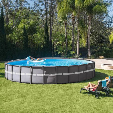 intex 26 39 x 52 ultra frame above ground swimming pool with filter pump. Black Bedroom Furniture Sets. Home Design Ideas