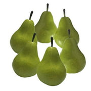 6pcs Fake Pear Artificial Fruits Vivid Green Pear for Home Fruit Shop Supermarket Desk Office Restaurant Decorations;6pcs Fake Pear Artificial Fruits Vivid Green Pear for Fruit Shop Decoration