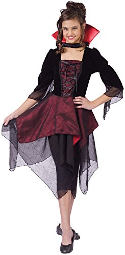 UHC Teen Girl's Sassy Lady Dracula Vampire Evil Fancy Dress Halloween Costume, Child S (4-6) by