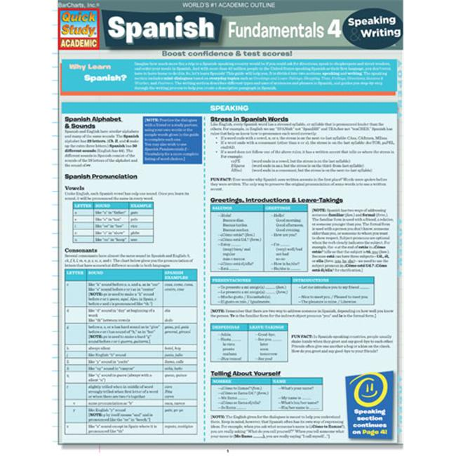 BarCharts- Inc.  9781423214502 Spanish Fundamentals 4