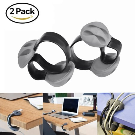 Wire Holder Clips Lavince 2Pcs Desk Cable Clip Cord Management System  Triple Slots Desktop Cable Organizer Line Fixer Wire Holder For Phone Charger  Tv  Computer  Home Office Gray