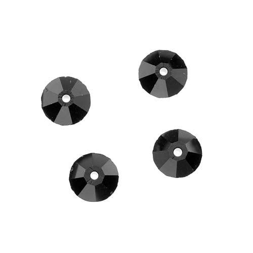 Swarovski Crystal, #5305 Rondelle Spacer Beads 6mm, 8 Pieces, Jet