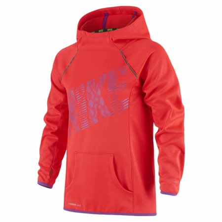 nike youth girls epic flash fleece pullover hoodie orange pink. Black Bedroom Furniture Sets. Home Design Ideas
