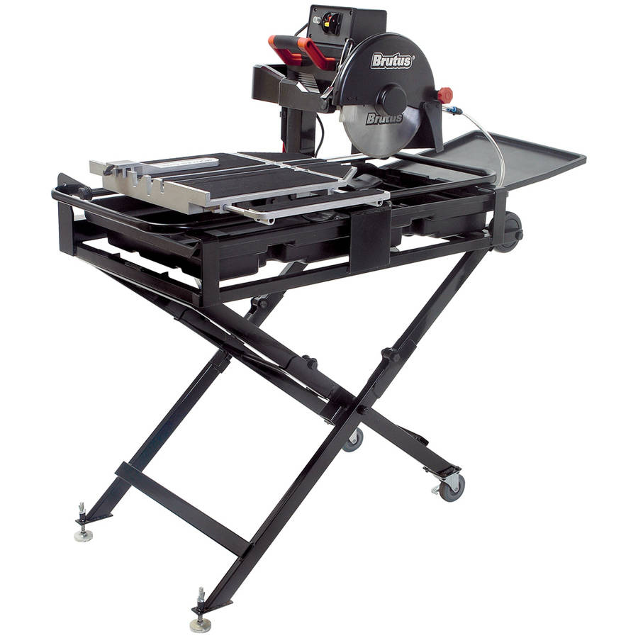 "QEP 61024BR 24"" Tile Saw Pro with Waterstand and Folding Stand"