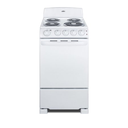 Summit RE203 20 Inch Wide 2.3 Cu. Ft. Free Standing Electric Range with Sensor C
