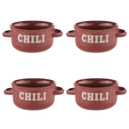 Mulberry 4 Pack Soup or Chili Bowls With Handles Large 16oz Ceramic ...