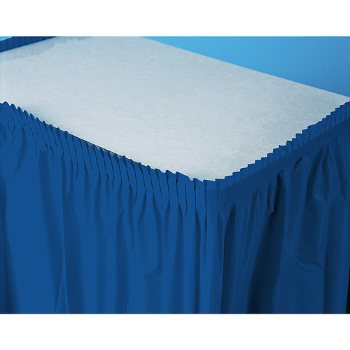 Plastic Table Skirt, Navy