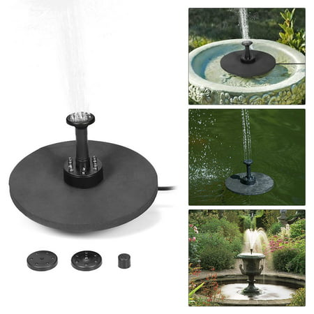 Solar Fountain Pump With Led Lighting And Remote Control Battery Backup Solar Power Brushless Water Pump For Garden Pond Fountains Landscape Walmart Canada