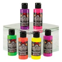 (Price/ST)Wicked Colors W103-00 Airbrush Paint Fluorescent 6-Color Set