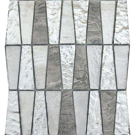 emser tile w80imge1112mot imagine - trapezoid mosaic wall tile - polished glass