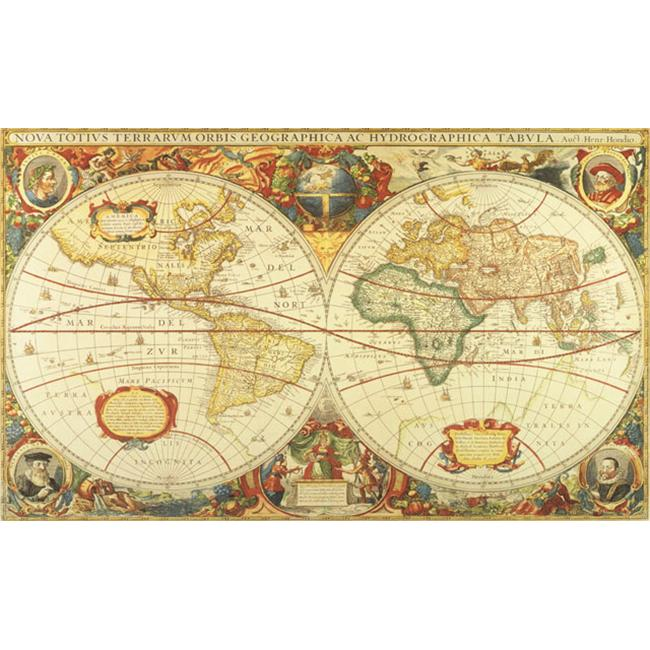 Environmental Graphics C873 Antique World Map