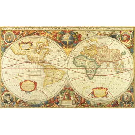 World map wallpaper room home garden compare prices at nextag environmental graphics c873 antique world map gumiabroncs Images