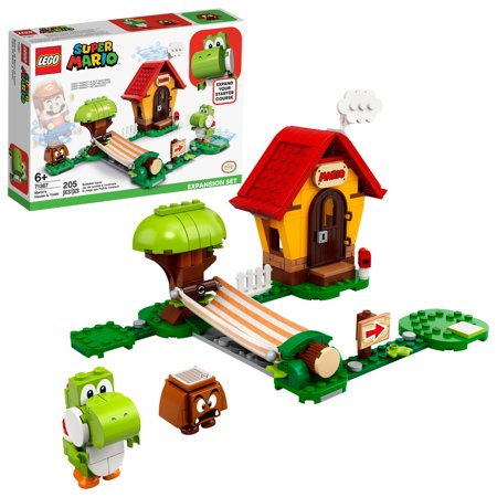 LEGO Super Mario Mario's House & Yoshi Expansion Set Collectible Toy for Creative Kids 71367
