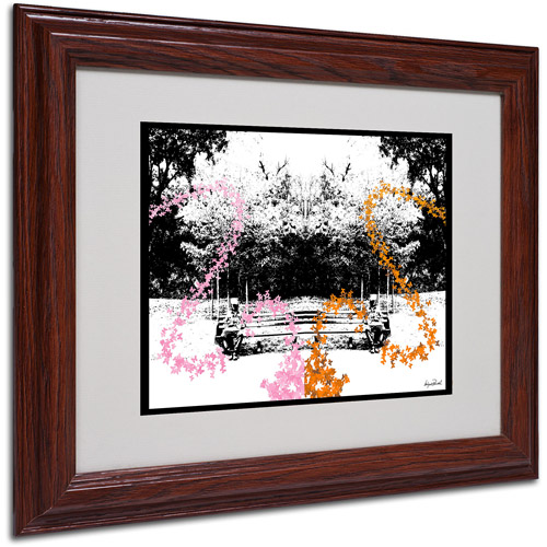 "Trademark Fine Art ""Pink, Orange Butterflies"" Matted Framed Art by Miguel Paredes"