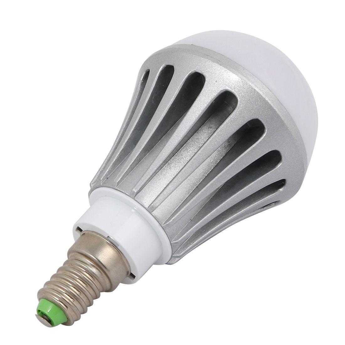 2Pcs 5W/7W Sliver Tone Aluminum Ball - Bulb Lamp Housing E14 Base w White Cover - image 2 of 4