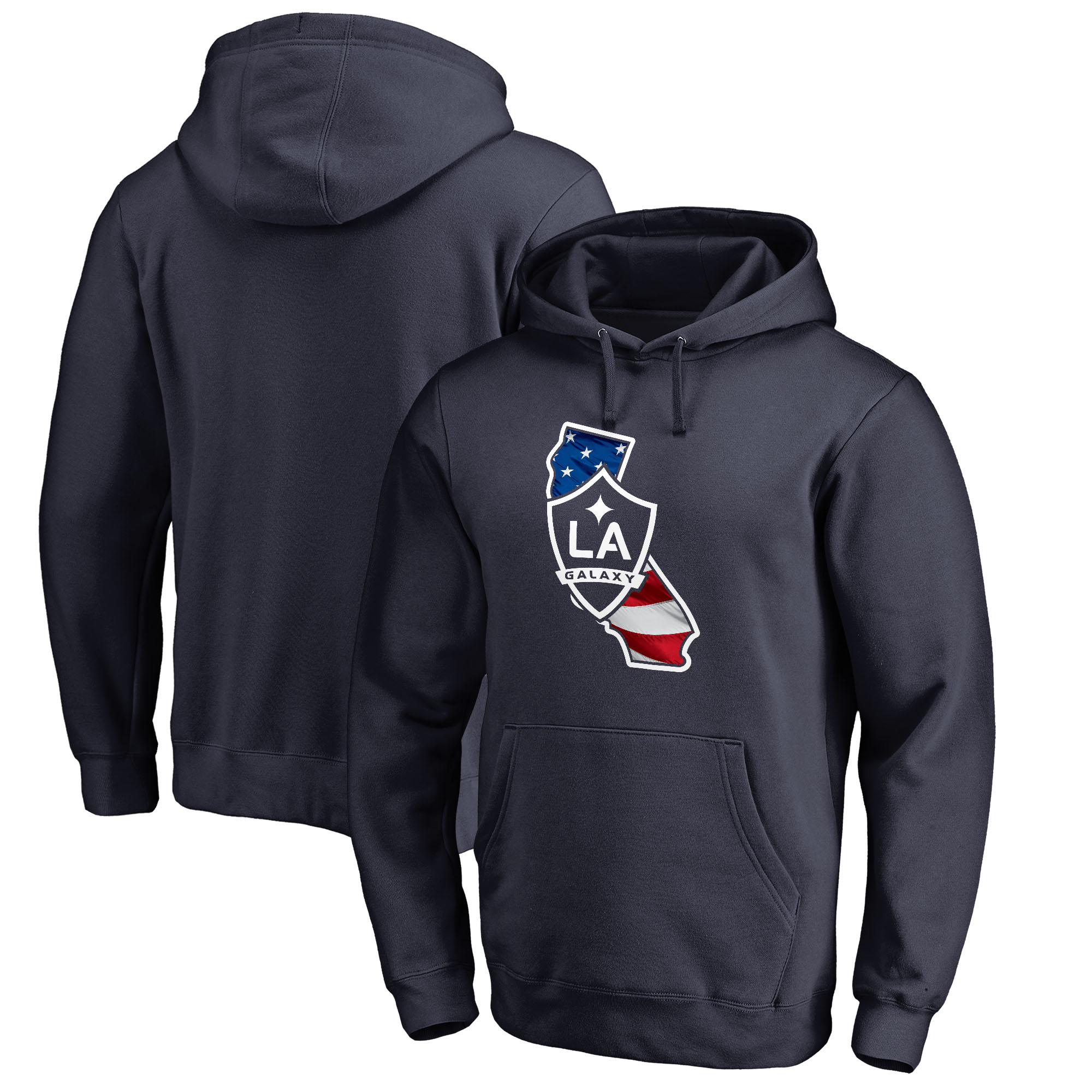 LA Galaxy Fanatics Branded Banner State Big and Tall Pullover Hoodie - Navy