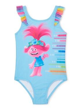 Trolls Toddler Girl One-Piece Swimsuit