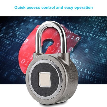 Fingerprint Smart Keyless Waterproof Lock APP Control Security Anti-Theft Padlock