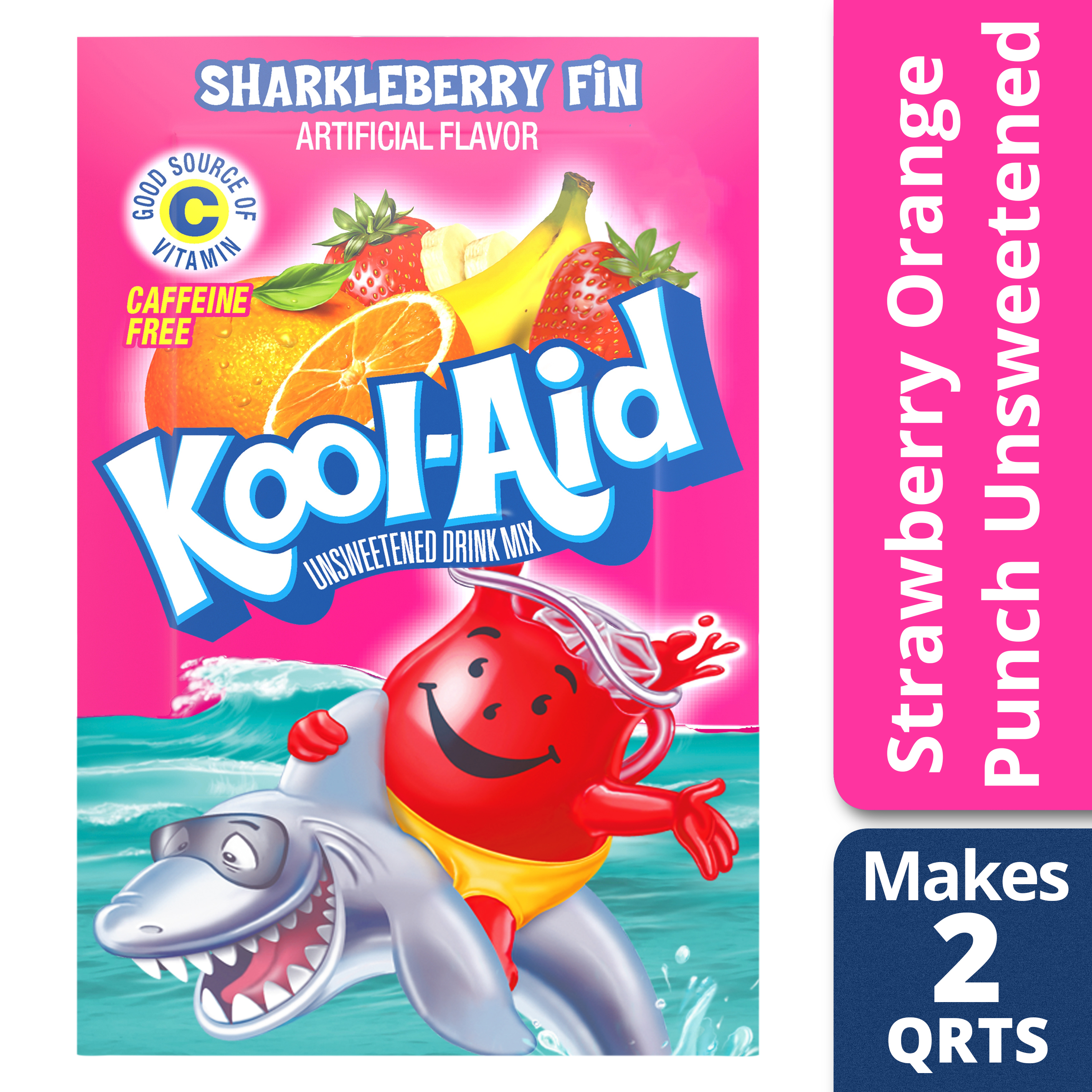 Kool Aid Unsweetened Sharkleberry Fin Powdered Soft Drink 016 Oz