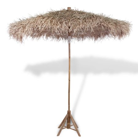 """Bamboo Parasol 106.3"""" with Banana Leaf Roof"""