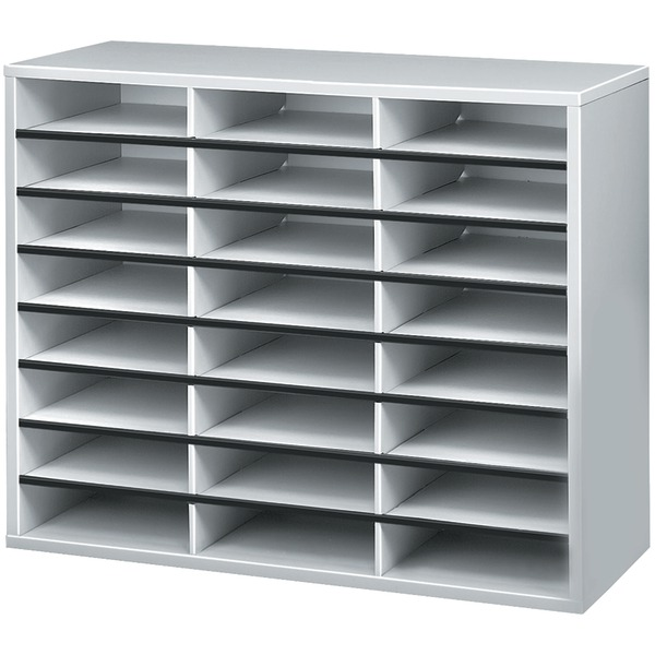 FELLOWES 25041 Literature Organizer (24-Compartment Sorter) by Fellowes