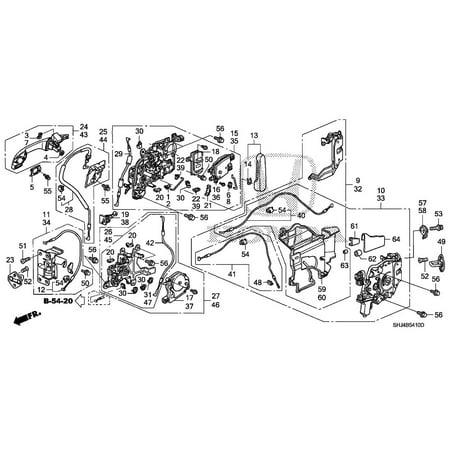 Honda 72650-SHJ-A22 Power Sliding Door Latch Assembly Honda