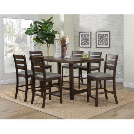 Alpine Furniture 2929-04 Emery Pub Height Dining Table, Walnut