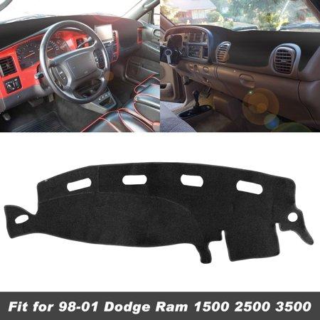 3500 Dash Cover (TSV Auto Car Dashboard Carpet Dash Board Cover Mat Fit for Dodge RAM 1500 2500 3500 1998-2001)