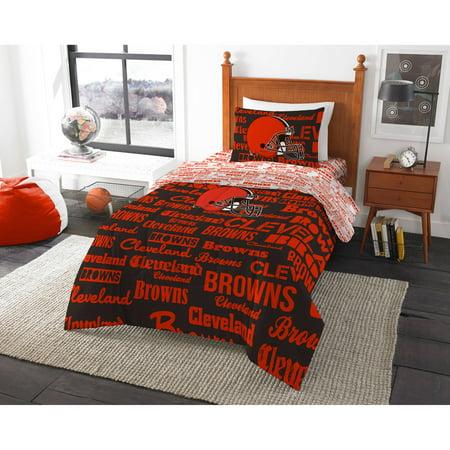 NFL Cleveland Browns Bed in a Bag Complete Bedding Set