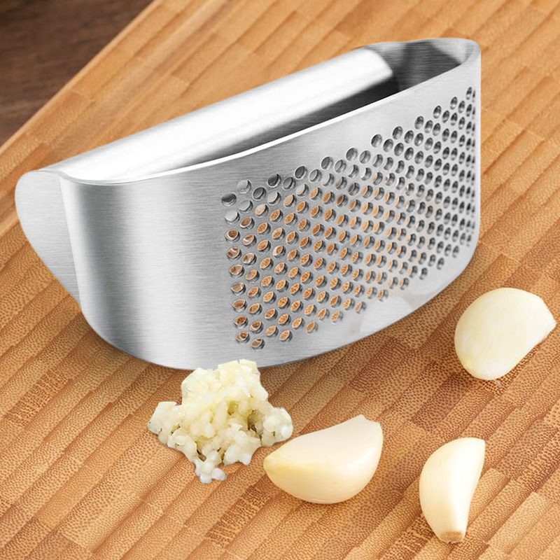 Stainless Steel Garlic Presses Grinder Schäler Peeler Slicer Cutter Küchenhelfer