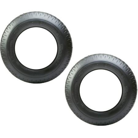 2-Pack eCustomrim Trailer Tire 8-14.5 Load G Bias 3100 Lb. Capacity Bias Ply Trailer Load Capacity