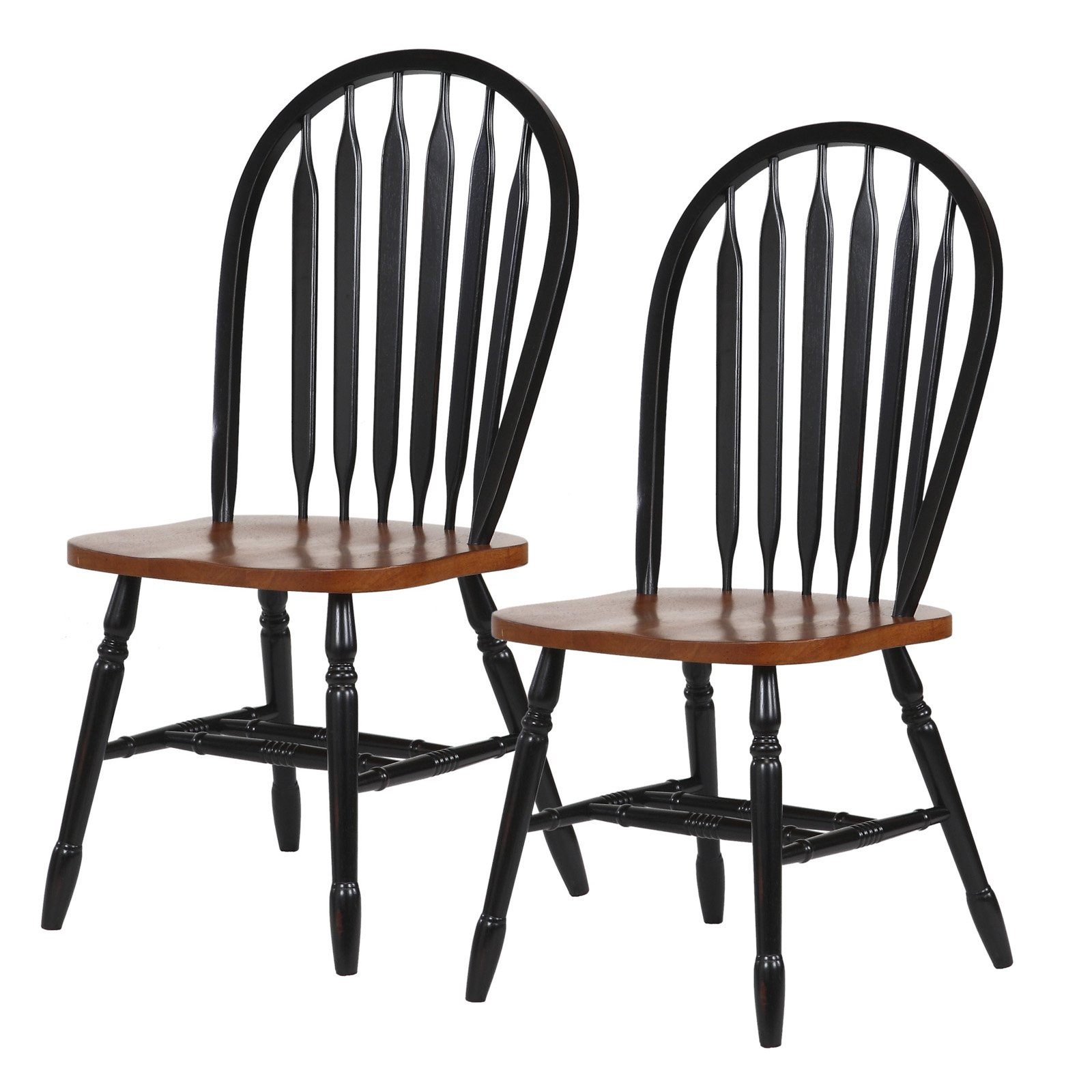Sunset Trading Arrowback RTA Dining Chair - Set of 2