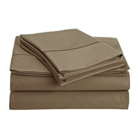 CHATEAU HOME COLLECTION 800-Thread-Count Egyptian Cotton Deep Pocket Sateen Weave Queen Sheet Set,Taupe