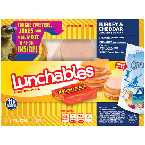 Lunchables Turkey & Cheddar Cracker Stackers Lunch Combination, 2.9 oz