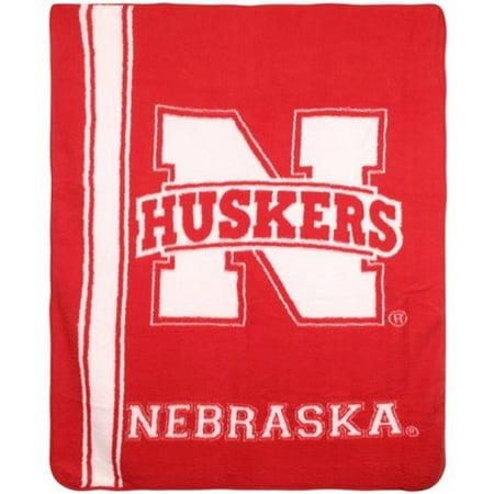 Nebraska Cornhuskers NCAA Sherpa 50x60 Fleece Plush Throw